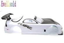 Ewellsold 1/10 RC car PVC painted Body Shell for 1/10 rc car 200mm White No: 016W free shipping