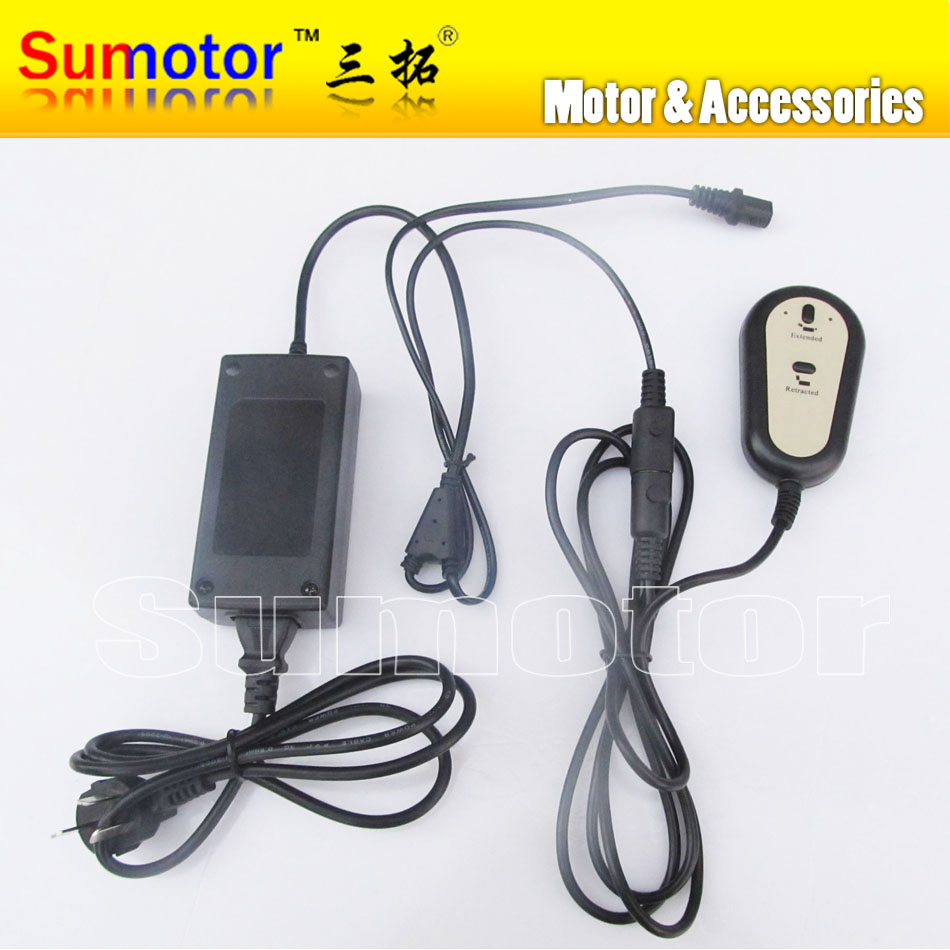 Input AC 220V For 1 Linear actuator DC 24V 5A power supply Manual switch controller kit Medical care bed window door opening цена