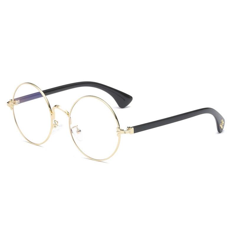 Prescription Eyewear for Men and Women Spectacles Full Rim Round Optical Glasses Frame Alloy Eyeglasses Super Light-weight 6721