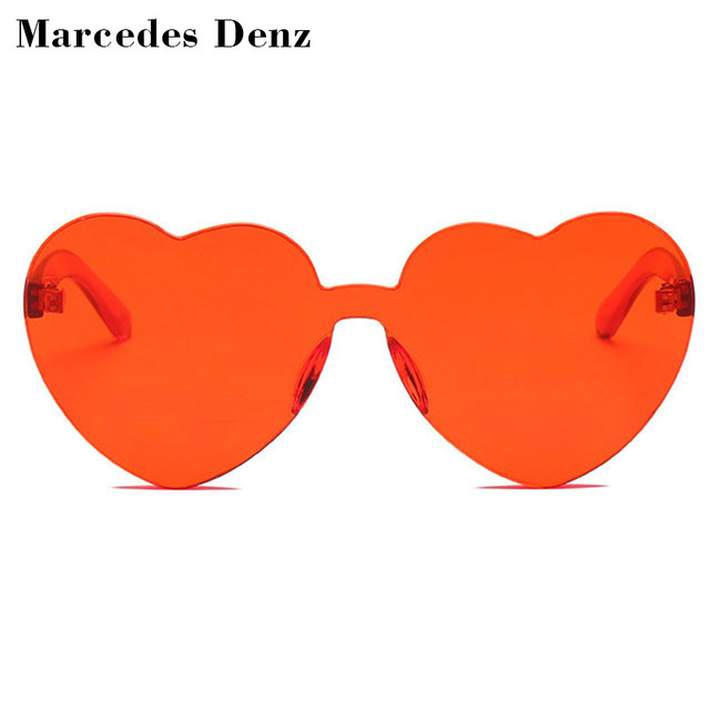 ff0c685fdc 2018 Red Heart Sunglasses For Women New Trendy Novelty Rimless Sun Glasses  Candy Color Love Style