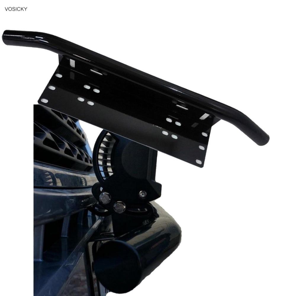 Bull Bar Front Bumper License Plate Mount Bracket Holder Offroad Light Bar For Off-Road Lights, LED Work Lamps,Day Light