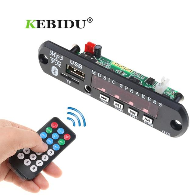Kebidu Bluetooth USB MP3 Cung Cấp Điện FM Đài Phát Thanh MP3 Board Giải Mã DC 12 V Mô-đun Âm Thanh Cho Xe Từ Xa Âm Nhạc loa