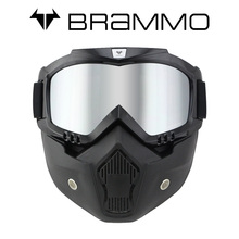 Genuine BRAMMO Vintage Harley goggles locomotive motorcycle helmet goggles glasses cross country mask mask