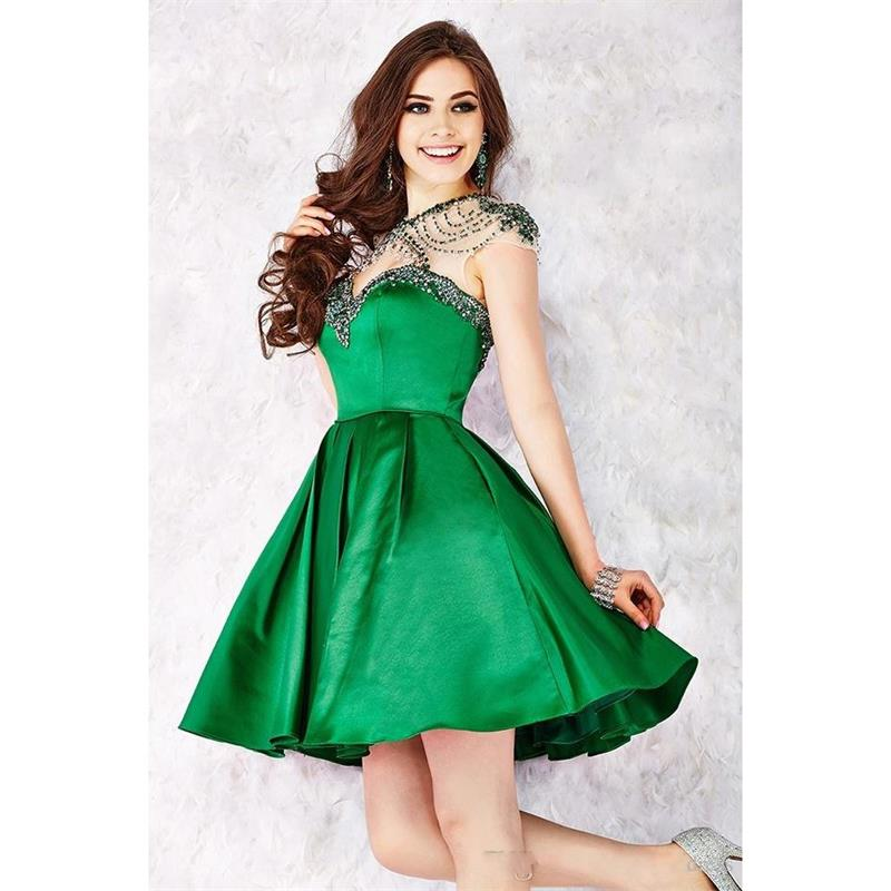 Popular Green Short Homecoming Dresses-Buy Cheap Green Short ...