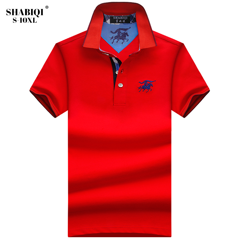 New 2019 Men Polo SHABIQI Brand Clothing Male Fashion Polo Shirt Men Casual Lapel Polo Shirts Plus Size 5XL 6XL 7XL 8XL 9XL 10XL