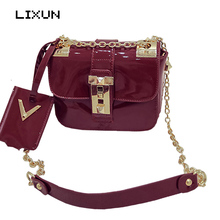 LIXUN European Style Candy Women PU Leather Shoulder Messenger Bag Day Clutches Evening Party Crossbody Bags