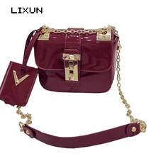 LIXUN European Style Candy Women PU Leather Shoulder Messenger Bag Day font b Clutches b font