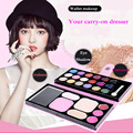 Beauty 18 colors eye shadows + 2 blush + pressed powder + 3 Lip frozen + 2 Eyebrow Professional Makeup Sets naked Eyeshadow