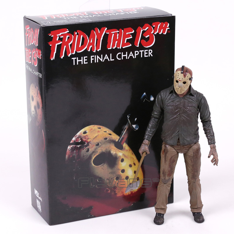 NECA Jason Voorhees Friday the 13th O Capítulo Final PVC Action Figure Collectible Modelo Toy