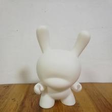 Vente chaude 8 pouce Kidrobot Dunny BRICOLAGE Peinture PVC Action Figure Blanc Couleur Avec Opp Sac