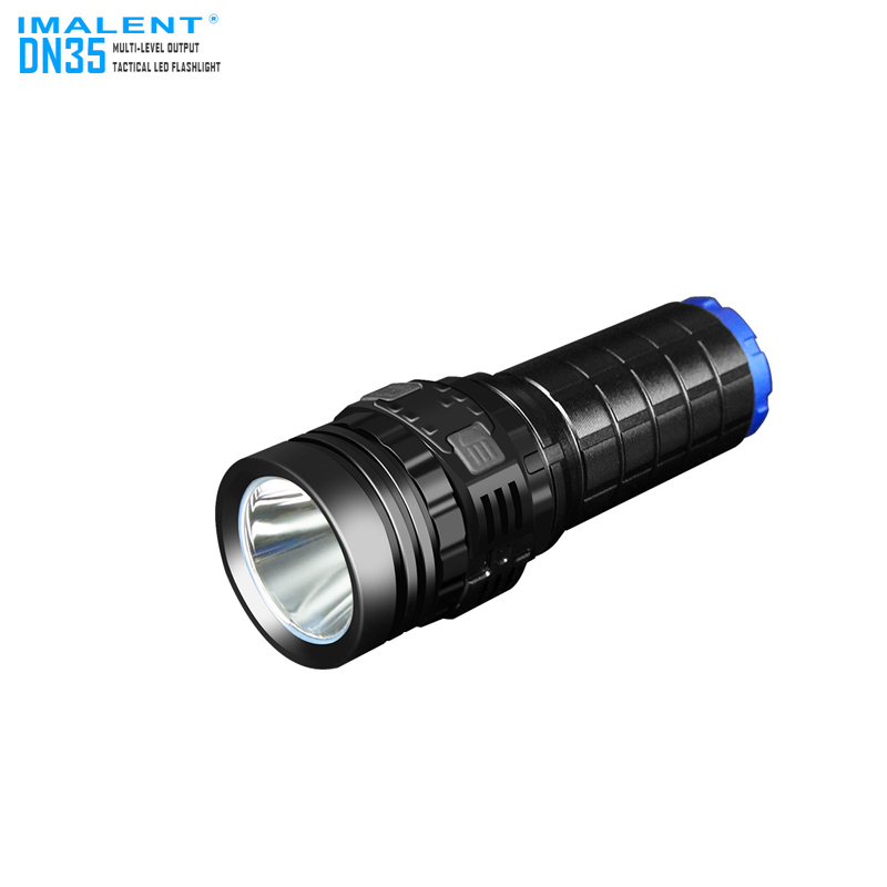 Hot Product IMALENT DN35 2200 Lumens Long Throw Versatile USB Rechargeable LED Tactical Flashlight with Multi Output Levels ipx 8 waterproof tactical torch imalent dn35 usb rechargeable cree xhp70 2200 lumens led flashlight self defense 26650 battery