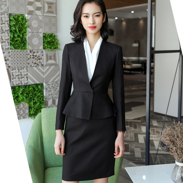 Blazers Friendly 2019 Formal Elegant Spring Summer Womens Gray Blue Suit Jacket Female Suits Blazers Office Uniforms Ladies Business Work Wears