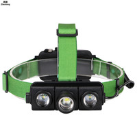 LED Headlamp Independent Zoomable 3T6 Head Flashlight Torch Sensor Rechargeable Head Light Forehead Lamp Head Fishing Headlight