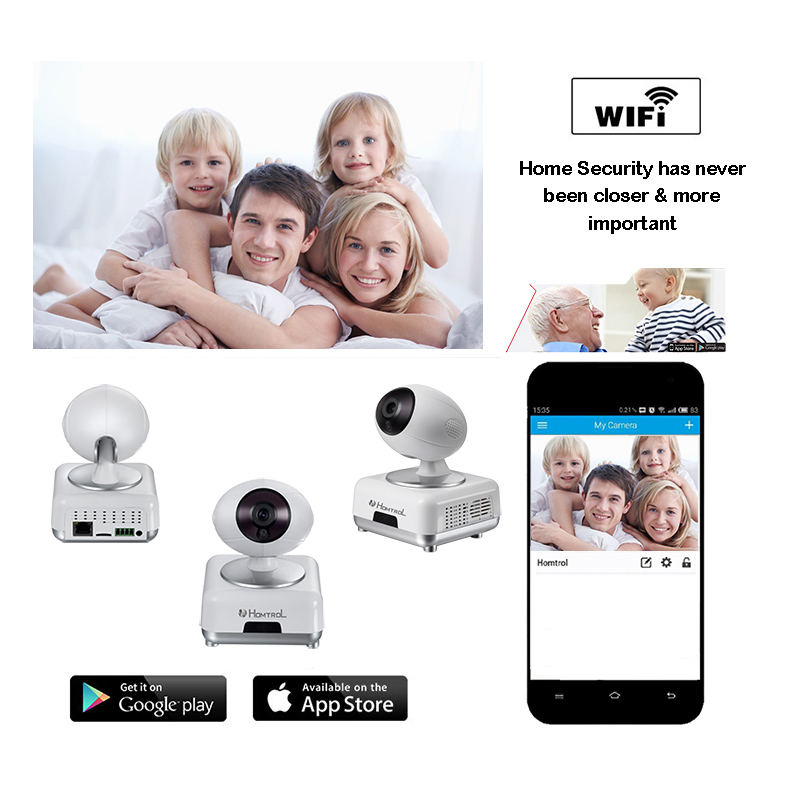 ФОТО Homtrol IP Camera WIFI 720P Home Security Surveillance System Onvif P2P Phone Remote Wireless Video Surveillance Camera