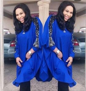 Image 3 - Afrikanische Kleider Für Frauen Pailletten Afrika Kleidung Muslimischen Lange Kleid Hohe Qualität Länge Mode Afrikanischen Kleid Für Dame