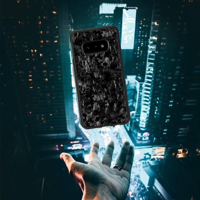 אמיתי מזויף פחמן סיבי מקרה עבור סמסונג S10 S10E חזרה כיסוי תבנית יוקרה עבור Samsung Galaxy S10 בתוספת נייד טלפון מקרה