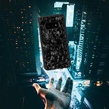 삼성 S10 s10e에 대 한 진짜 단조 탄소 섬유 케이스 삼성 갤럭시 S10 플러스 휴대 전화 케이스에 대 한 다시 커버 럭셔리 패턴