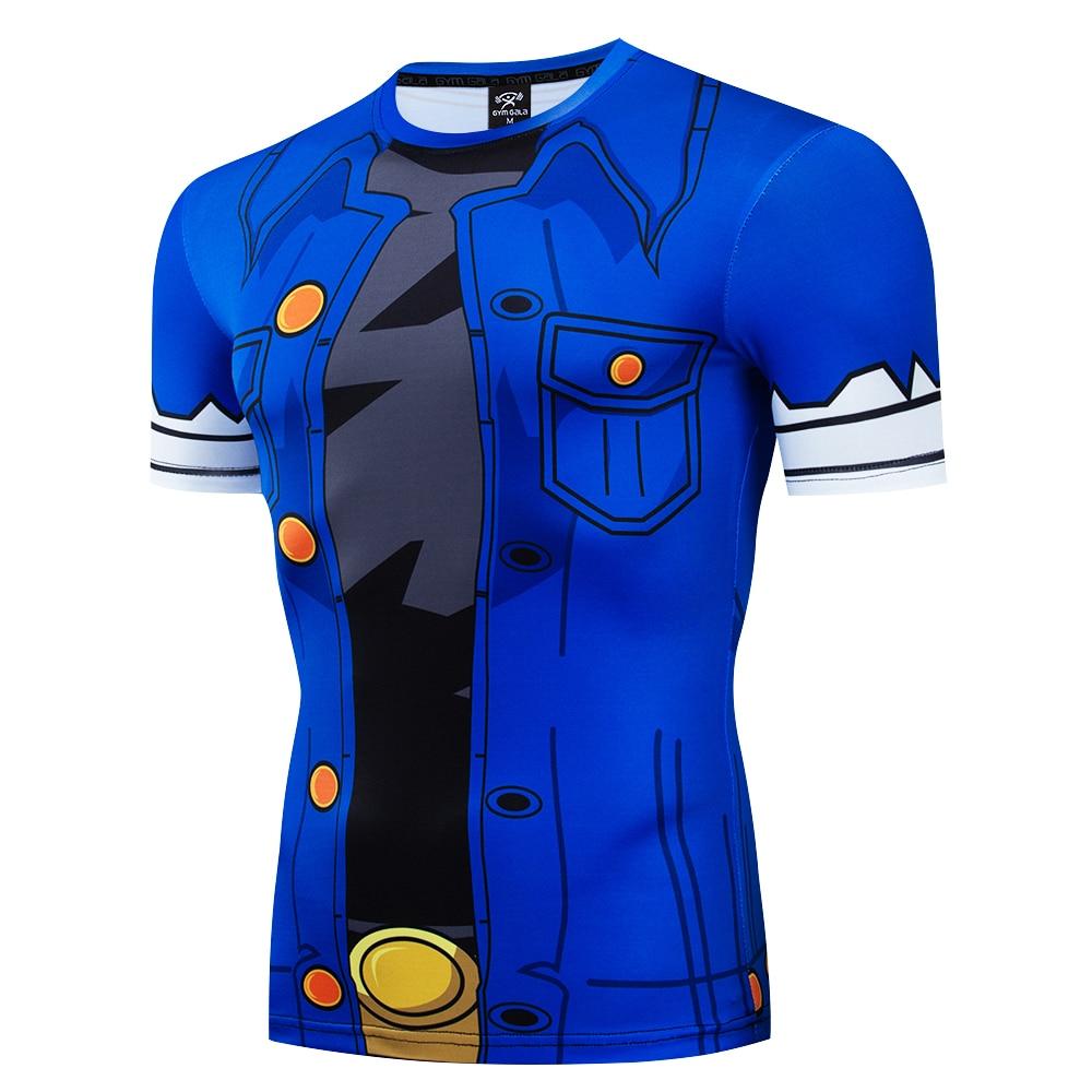 2017 New Men's Fashion Goku Dragon Ball 3D Print Casual Short Sleeve Cosplay T-Shirt Compression Tshirts Fitness Bulma Women's