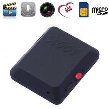 X009 мини Камера видео рекордер SOS GPS DV Cam 850/900/1800/1900 мГц двусторонняя gsm сим-карты мини видеокамеры gps трекер