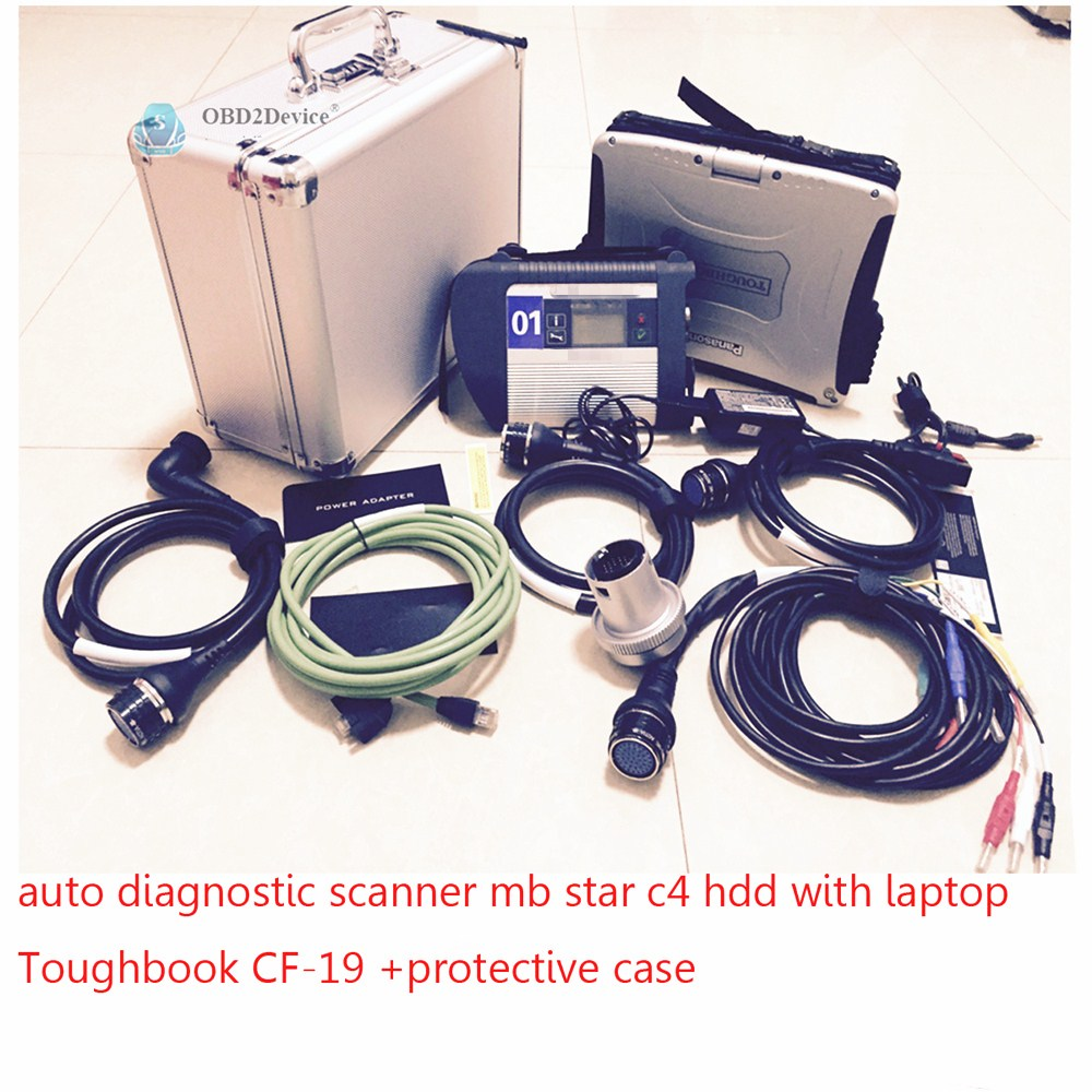 Super MB Star C4 SD Connect C4 Diagnostic Tool With laptop CF-19 Notebook cf 19 Computer 2017.12 Software DHL Free Ship
