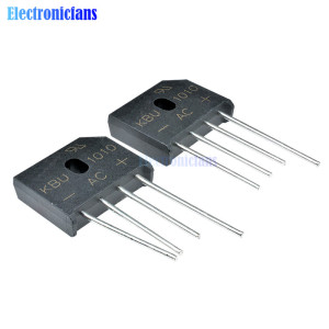 5PCS/LOT KBU1010 KBU-1010 10A 1000V ZIP Diode Bridge Rectifier Diode new and original IC