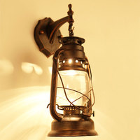 European Wall Kerosene LED Vintage Beside Retro Coffee Bathroom Glass Lamps Lamp Sconce For Bar Shop Light Fixture @
