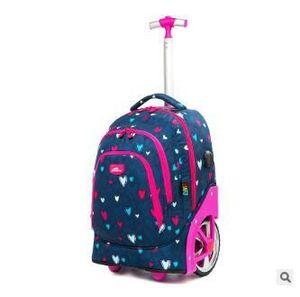 Image 4 - עגלת תרמילי שקיות עבור בני נוער 18 אינץ גלגלי בית ספר תרמיל עבור בנות תרמיל על גלגלי מזוודות ילדים מתגלגל שקיות