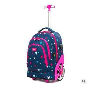 Image 4 - Trolley Backpacks Bags For Teenagers 18 Inch School Wheeled Backpack For Girls Backpack On Wheels Children Luggage Rolling Bags