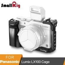 "SmallRig LX100 כלוב עבור Panasonic Lumix LX100 מצלמה כלוב כדי הר חצובה שחרור מהיר מגן כלוב עם נאט""ו רכבת  2198"