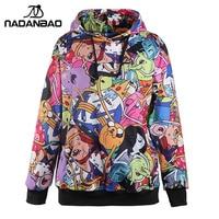 New Arrival Adventure Time Printed Hooded Sweatshirt Women Moletom Sport Suit Hoodie Outside Woman Sudaderas WYC1013