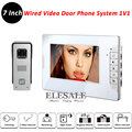 "New Wired Video Door Intercom Doorbell System 700TVL Rainproof Camera Unit IR Night Vision 7"" LCD Color Monitor Home Kit"