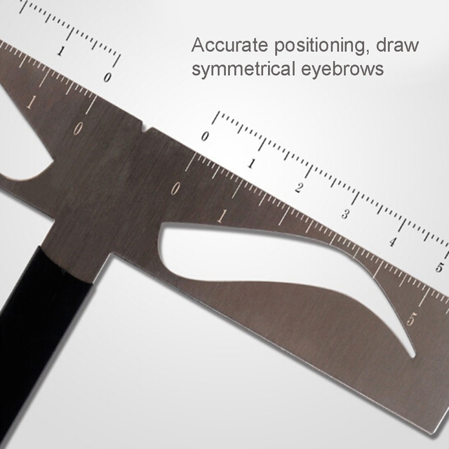 Eyebrow Ruler T-shaped Positioning Makeup Permanent Stencils Grooming Stencil Shaper Balance Ruler Symmetrical Tool 2