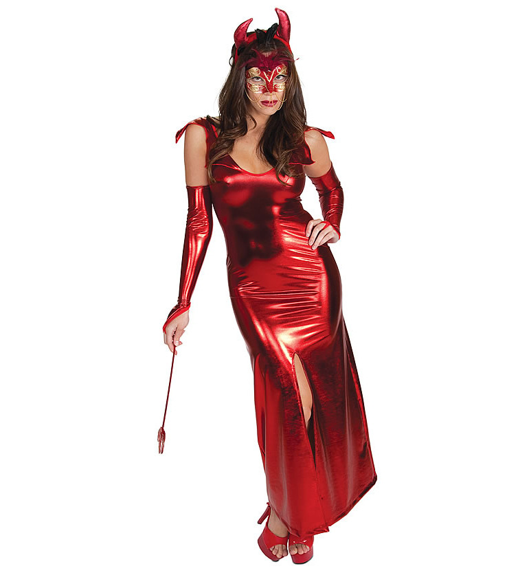 Ensen Sexy Patent Leather Cow Horn Cosplay Costumes Red Zentai Sex Products Fantasia Adulto Dress Halloween Costumes For Women