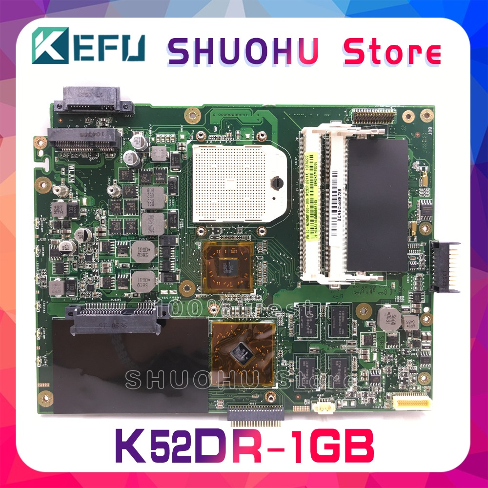 KEFU For ASUS K52DR K52D K52DE A52D A52DR A52DE 1GB Video HD5470 Laptop Motherboard Tested 100% work original Mainboard 2
