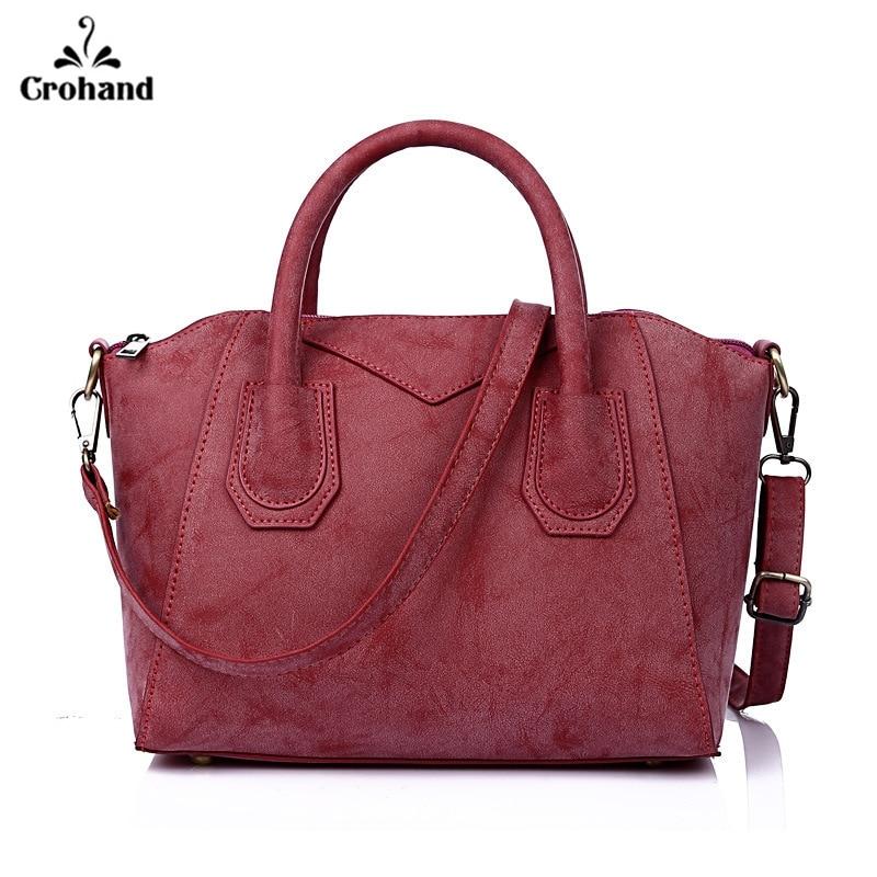 Vintage Large Women PU Leather Tote bag Suede Style Tote Shoulder Bag Handbag Ladies Bags for women 2018 Bolsas Femininas square pu tote bag