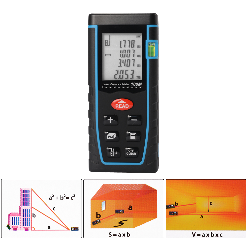 Laser Distance Meter 40M 60M 80M 100M Laser Rangefinder Trena Laser Tape Range Finder Build Measure Device Ruler Test Tool mini handheld digital laser distance meter 60m rangefinder trena laser tape range finder build measure device ruler test tool