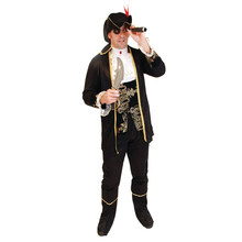 Adult Mens Captain Pirates Musketeer Costumes Halloween Purim Party Carnival Masquerade Cosplay Outfit purim свитер