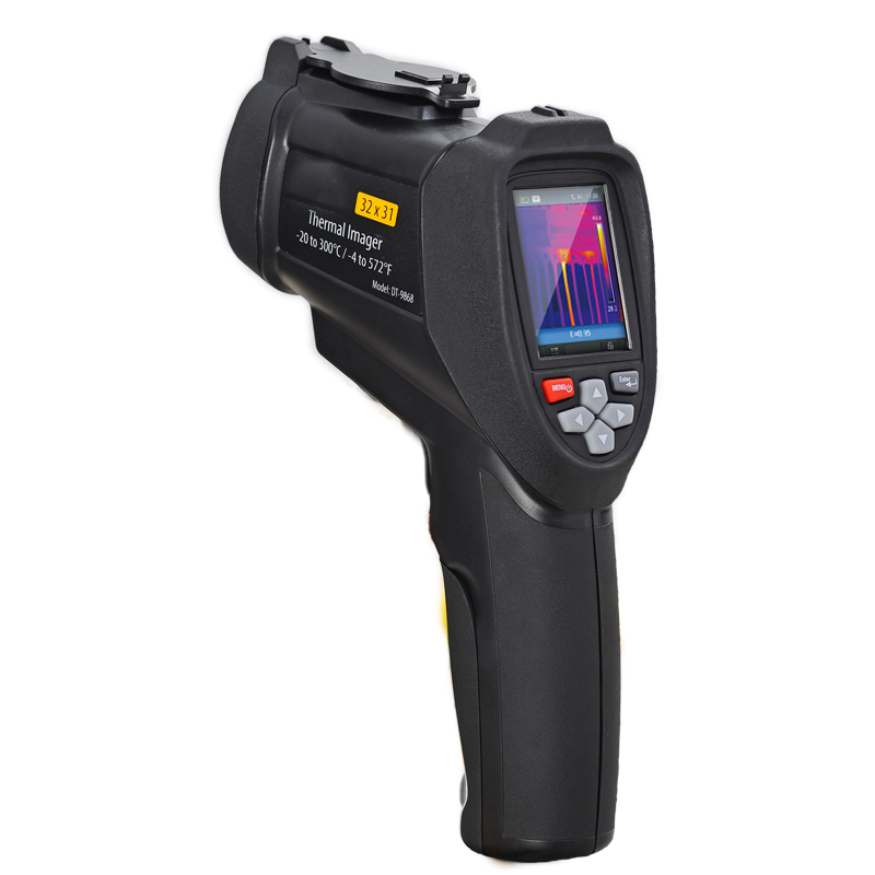 DT-9868 tenuto in mano strumento di controllo della Temperatura professionale A Infrarossi termocamera 32*31 TFT display LCD macchina fotografica Termica