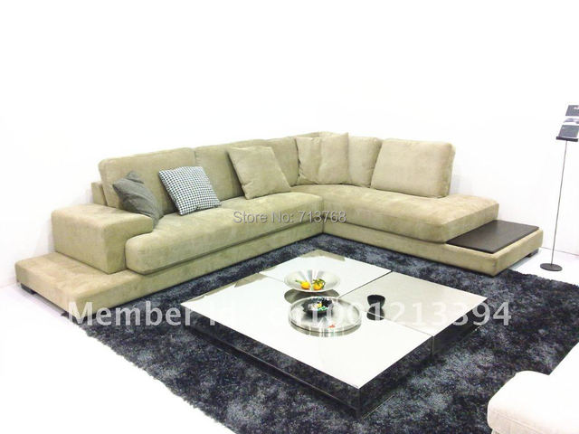 Arredamento moderno/soggiorno angolo di bond divano in pelle ...