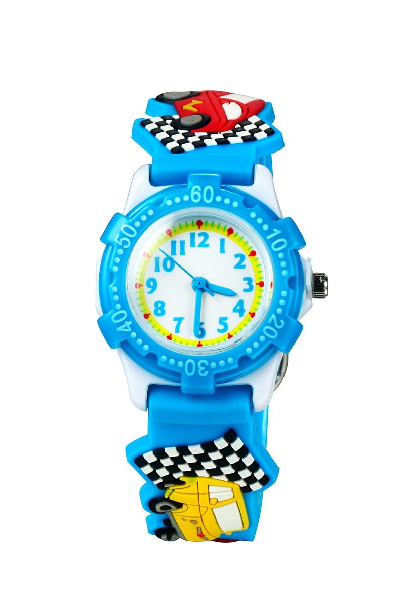 Children's Watch 3D Strap Cartoon Boy Girl Car Quartz Watch Pointer Electronic Waterproof Watch Child Gift Watch