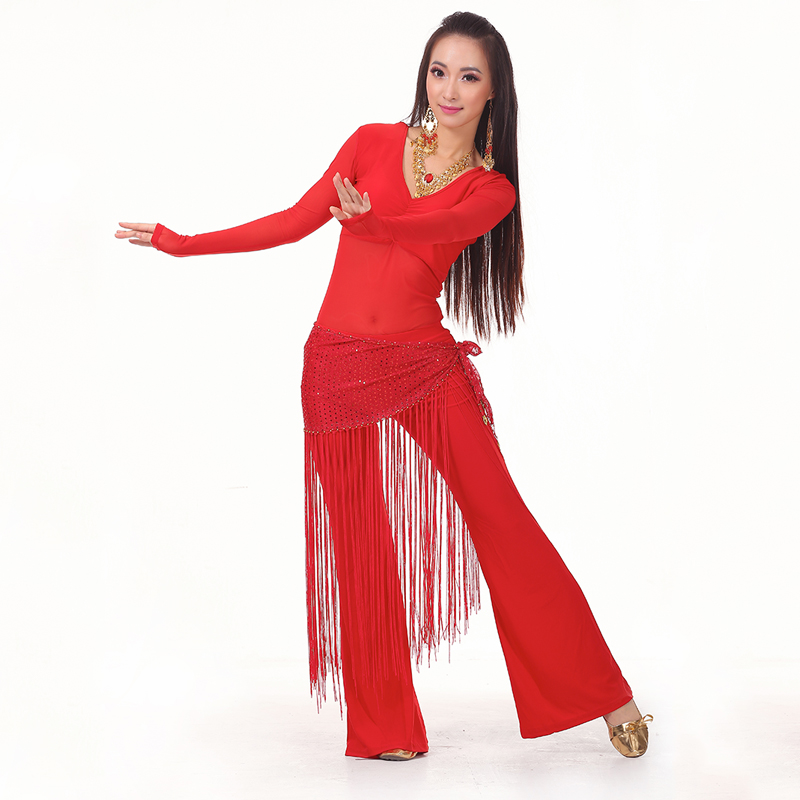 2016 Belly Dance Costume Set Professional Top&Pants&Hip Scarf Indian Dress Lady Belly Dancing Dance Wear Practice/Performance