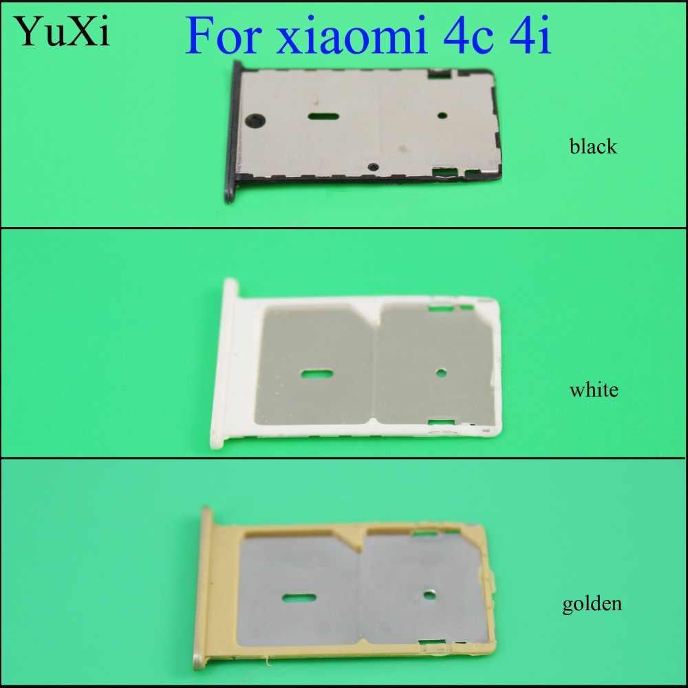 YuXi לxiaomi Mi 4C 4c Mi4C החלפת מתאם שקע חריץ מחזיק מגש כרטיס ה-SIM הכפול