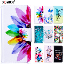Flip Leather Case For huawei P Smart 2019 Cover Honor 10 Lite Luxury Colorful Painted Wallet capa Phone