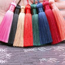 10Pcs/Slot Silk Tassel Fringe Sewing Bang Tassel Trim Key Tassels for Silk Tassels DIY Embellishment Curtain Accessories Parts