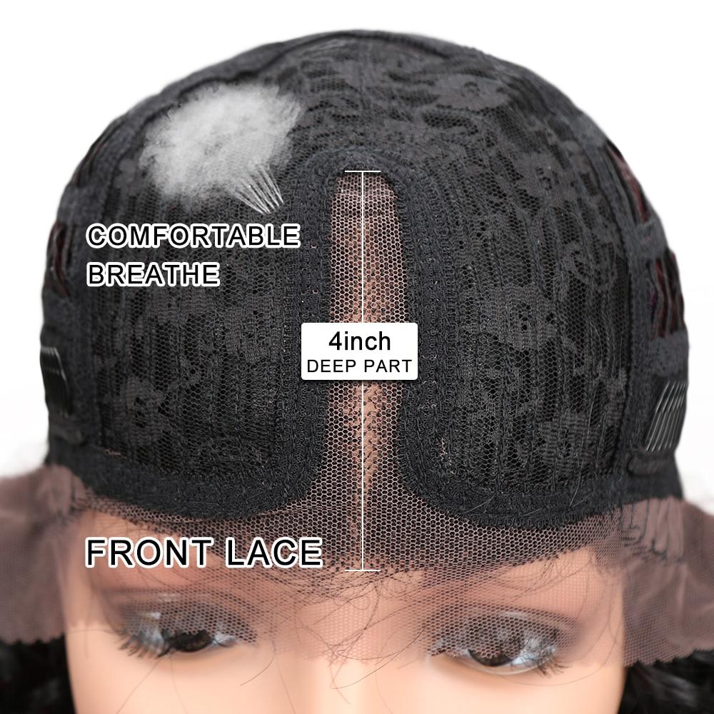 Ευγενείς Περούκες Για Μαύρες - Συνθετικά μαλλιά - Φωτογραφία 5
