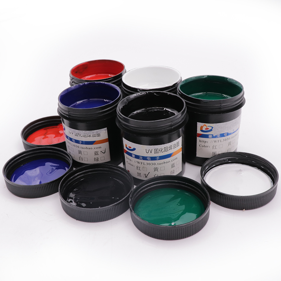 PCB UV Photosensitive Inks Green PCB UV Curable Solder Resist Ink Solder Mask UV Ink Paste