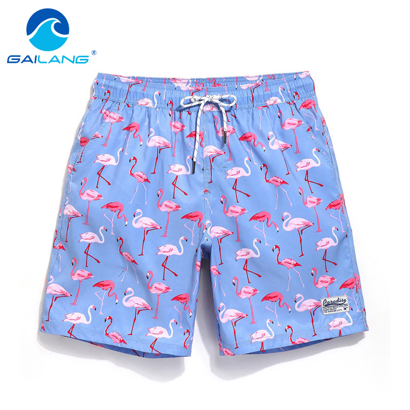 Gailang Brand Mens Beach Shorts Board Boxer Shorts Trunks Casual Mænds Badetøj Badetøj Bermuda Short Bottoms Big Plus Størrelse