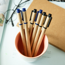 JIANWU 4pcs 0.5mm kraft paper environmental neutral pen gel black ink student stationery