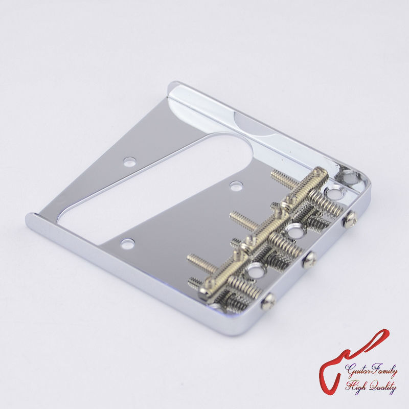 1 Set GuitarFamily  Vintage 62 Type Fixed Electric Guitar Bridge With Threaded Saddles  Chrome  ( #1245 ) MADE IN KOREA free shipping new electric guitar opened pickup in chrome made in south korea hy 8176