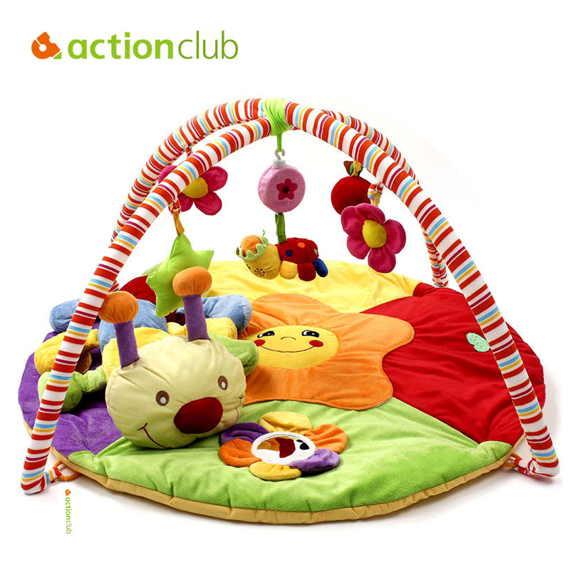 Actionclub Educational Baby Toy Baby Play Mat Plush Game Rug 0-1 Year Tapete Infantil Crawling Mat Music Play Gym Blanket Carpet